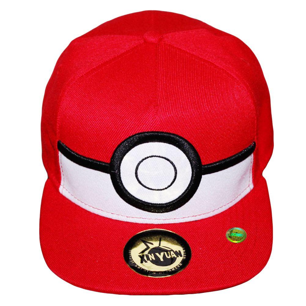713876177073b Men Women Cute Pokemon Go Poke Ball Snapback Bill Cap Red ...