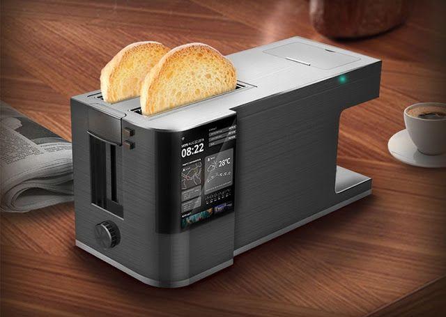 'Morning Touch'  Breakfast Maker  tostadora cafetera y pantalla táctil  de información  en un mismo aparato