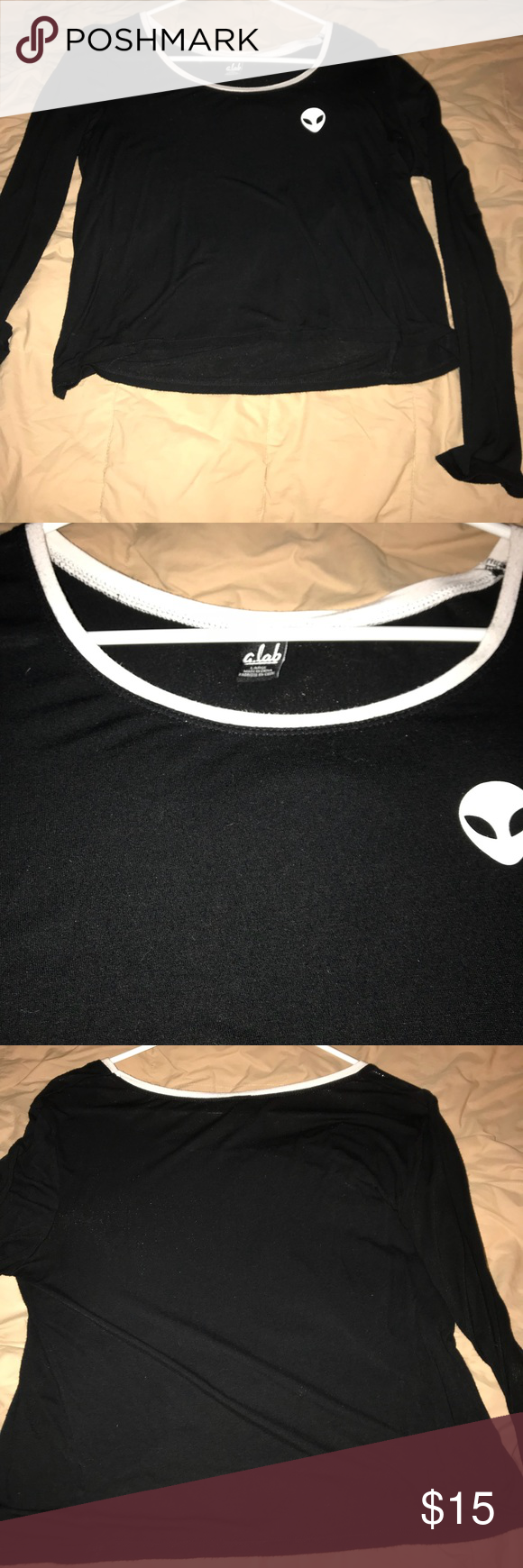 Alien crop long sleeve by alab aliens smoke free and smoking