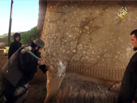 ISIS destroying civilizations art/religious artifacts/literary works in Iraq - Google Search