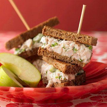 Parmesan Chicken Salad Sandwiches