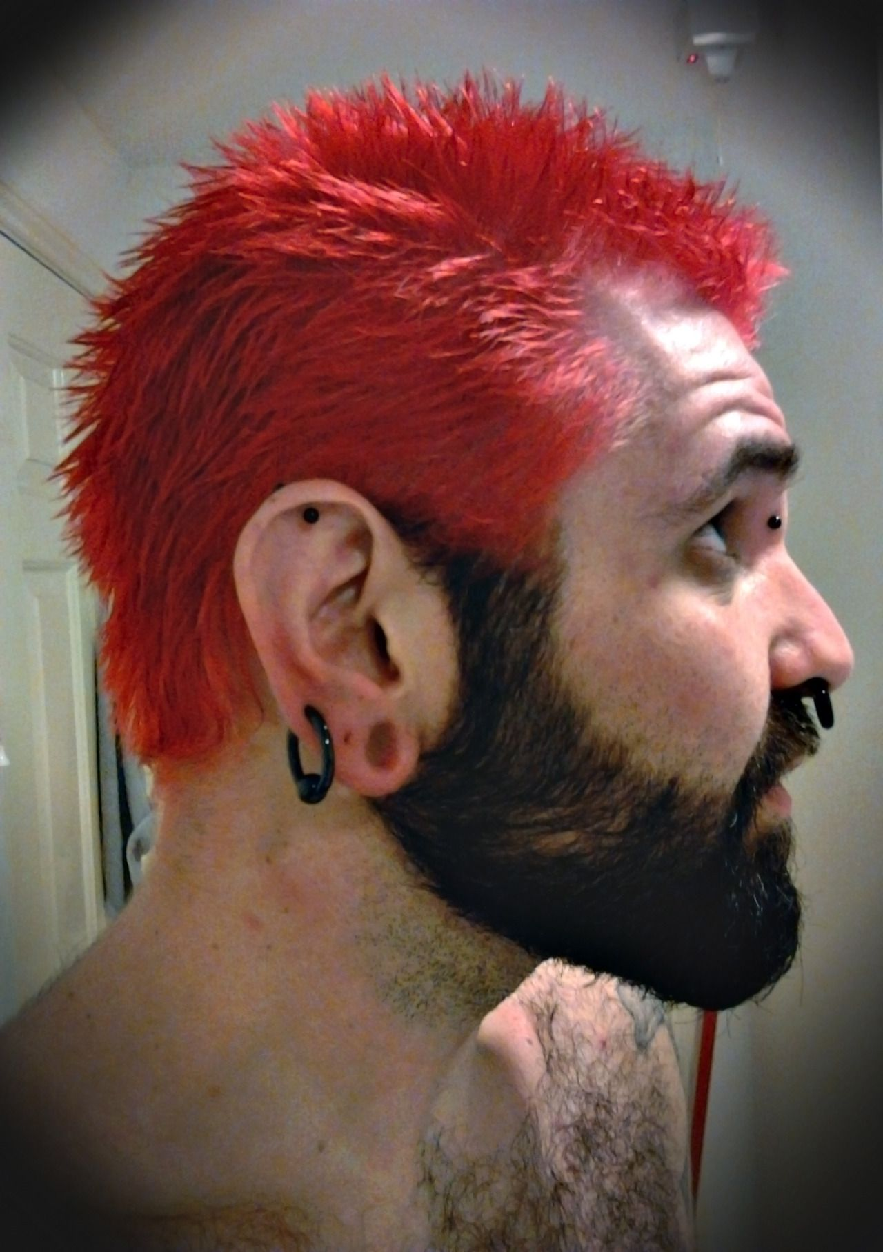 Rotandrage Just Washed The New Hair Dye Out Dyed Hair Beard Colour Hair And Beard Styles