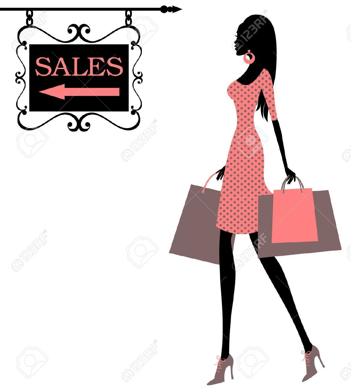 12394153-Vector-illustration-of-a-girl-holding-shopping ...
