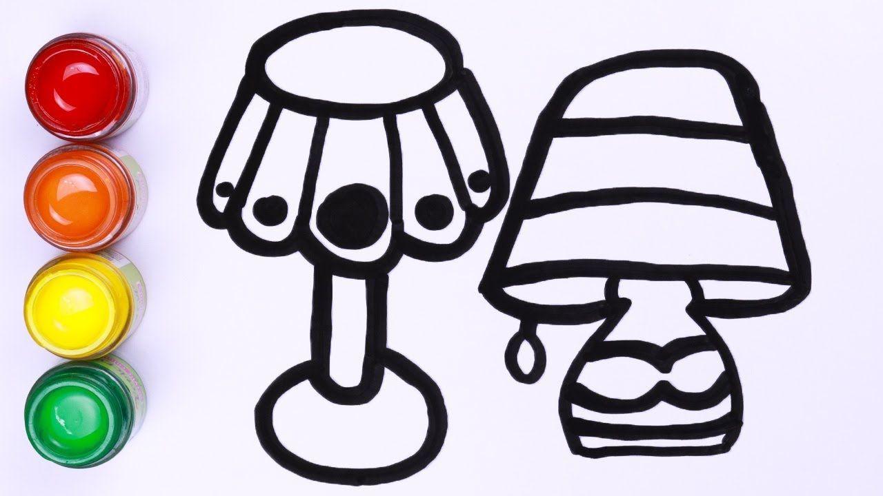 Menggambar Dan Mewarnai Lampu Meja Untuk Balita