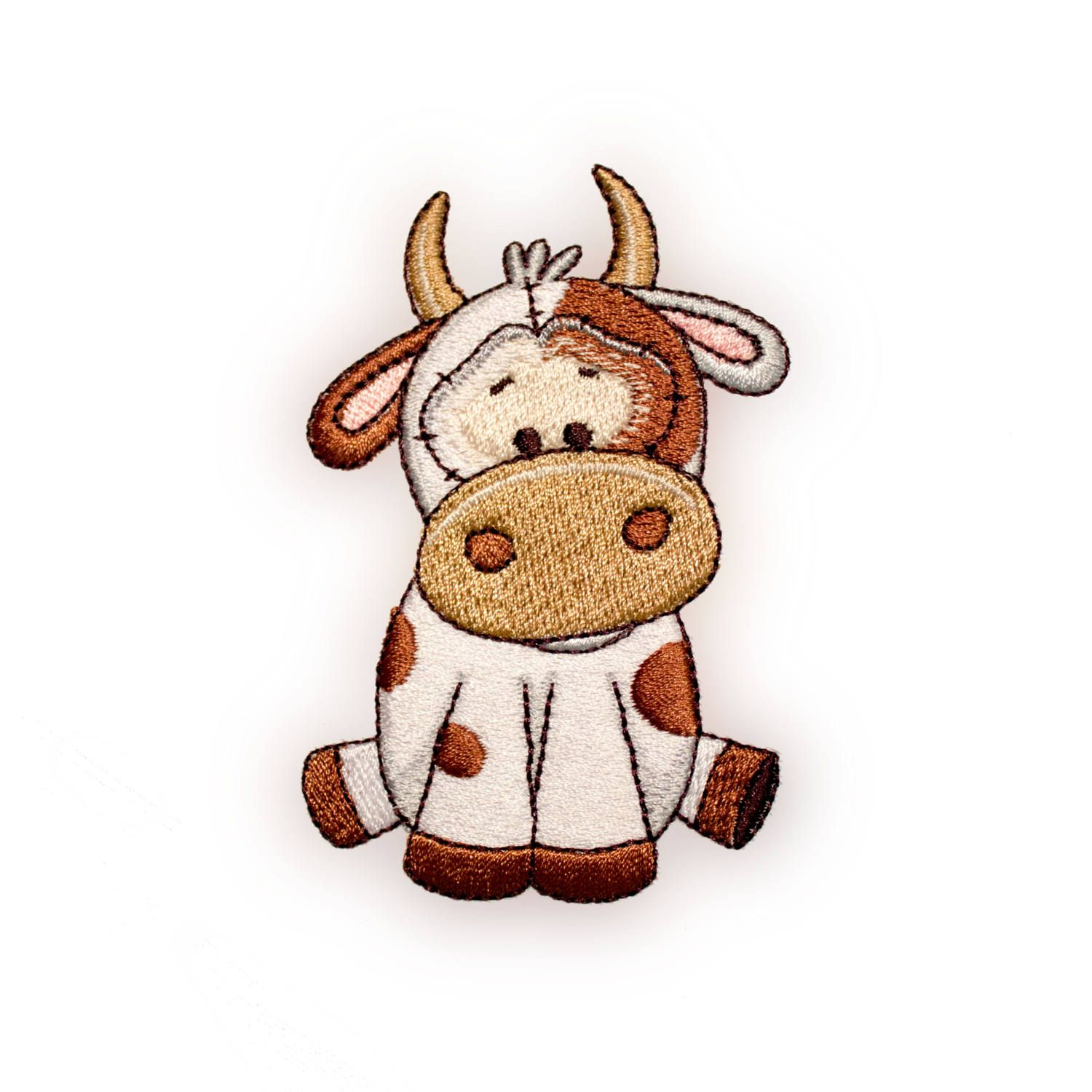 Cute Cow Embroidery Design by LittleBlessingTC on Etsy