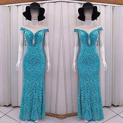 Feira do vestido de festa azul tiffany