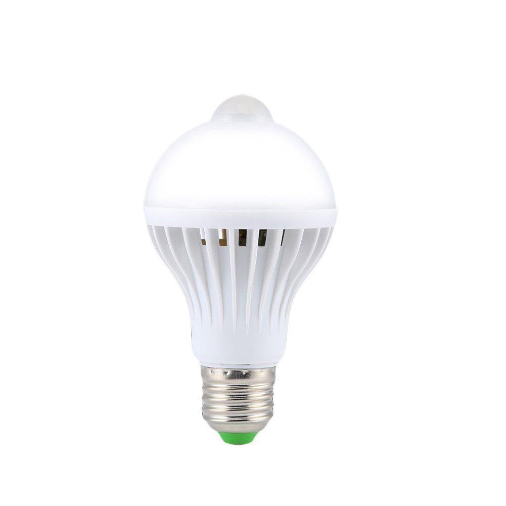 E27 5W Motion Sensor Led Bulb Auto Pir Motion Detection Home ...