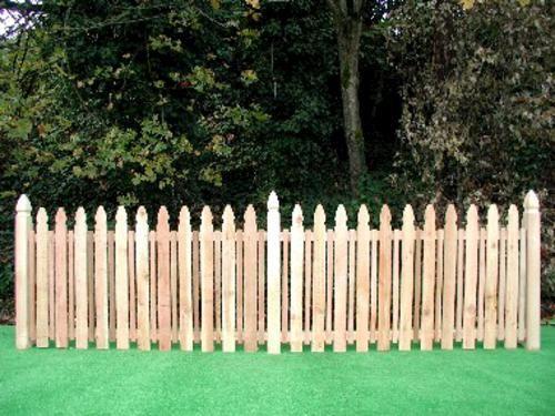 Mckenzie 42 X 8 Cedar Picket Fence Panel Menards Picket
