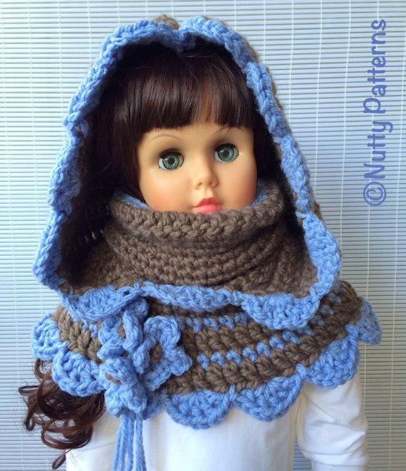 Crochet Patterns Charlotte Hooded Cowl Instant von nuttypatterns ...