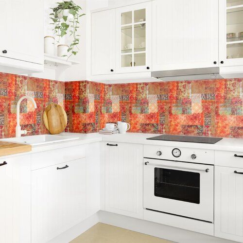 Ebern Designs PVC Spritzschutzpaneel Selbstklebend Aubrie | Wayfair.de #kitchensplashbacks