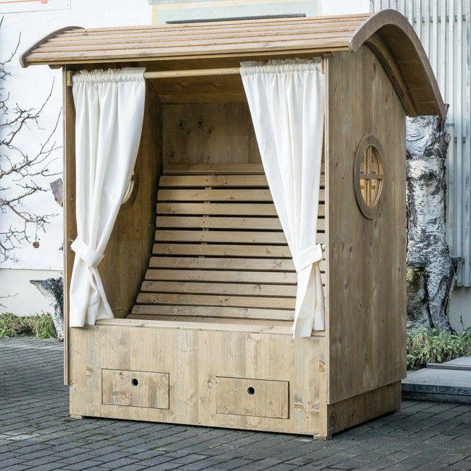 Alpenkorb mit Sitzbank Alpenstrandkorb bayerischer Strandkorb Garten Outdoor garden  ~ 01144819_Liegestuhl Aus Paletten Bauen