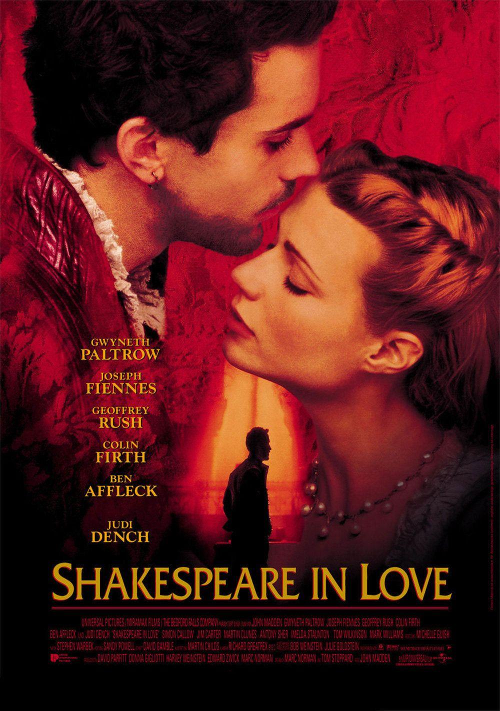 Resultado de imagem para shakespeare apaixonado poster