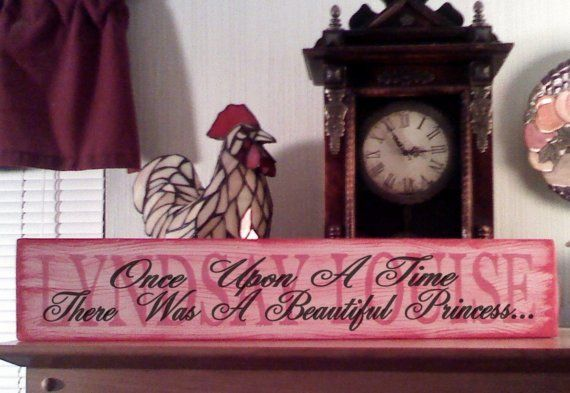 PERSONALIZED Baby Name NURSERY SIGNONce Upon A by ASignOfWonder
