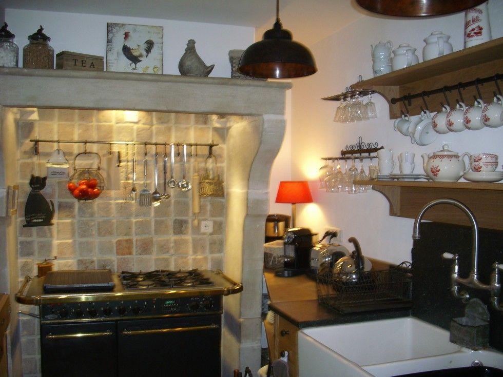 Cuisine genre estaminet - piano de cuisson godin\u003cbr /\u003e \u003cbr /\u003eevier à - cuisine a l ancienne
