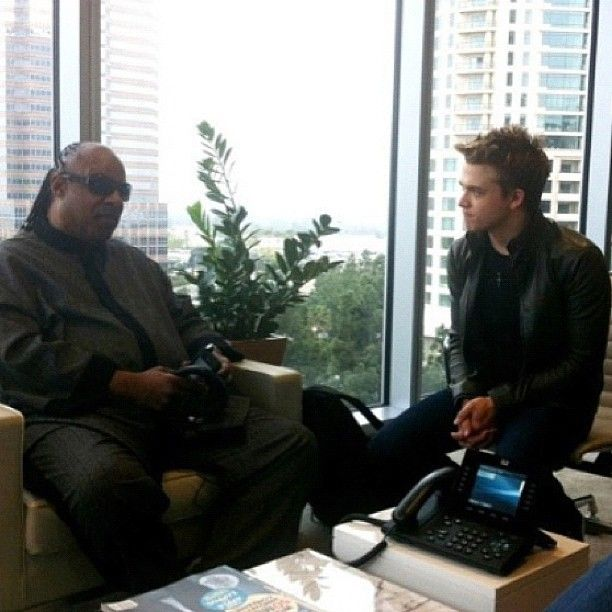 Probably already have this one... Hunter and Stevie Wonder!