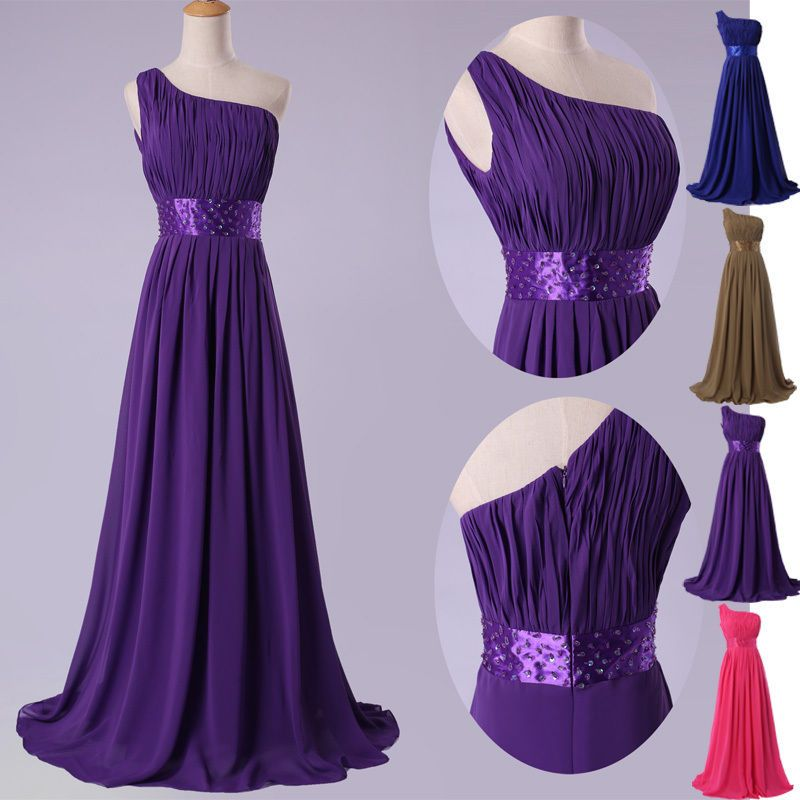 CHEAP! Long Chiffon Formal Evening Gowns Party Bridesmaid PLUS SIZE ...