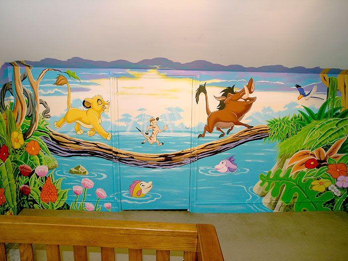 Disney Painted Murals Classic Disney Moment Hanpainted