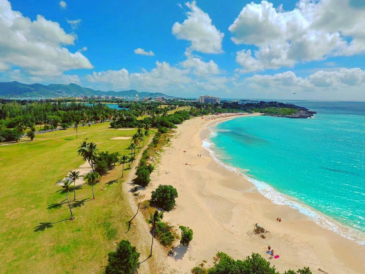 Mullet Bay Beach St Maarten Is A Very