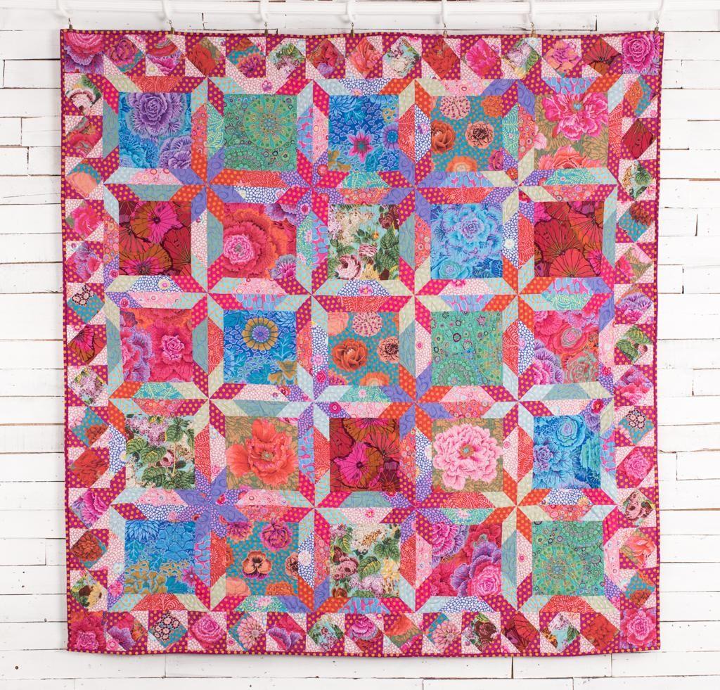 Rowan Pastel Star Bouquet By Kaffe Fassett Quilt Kit 75