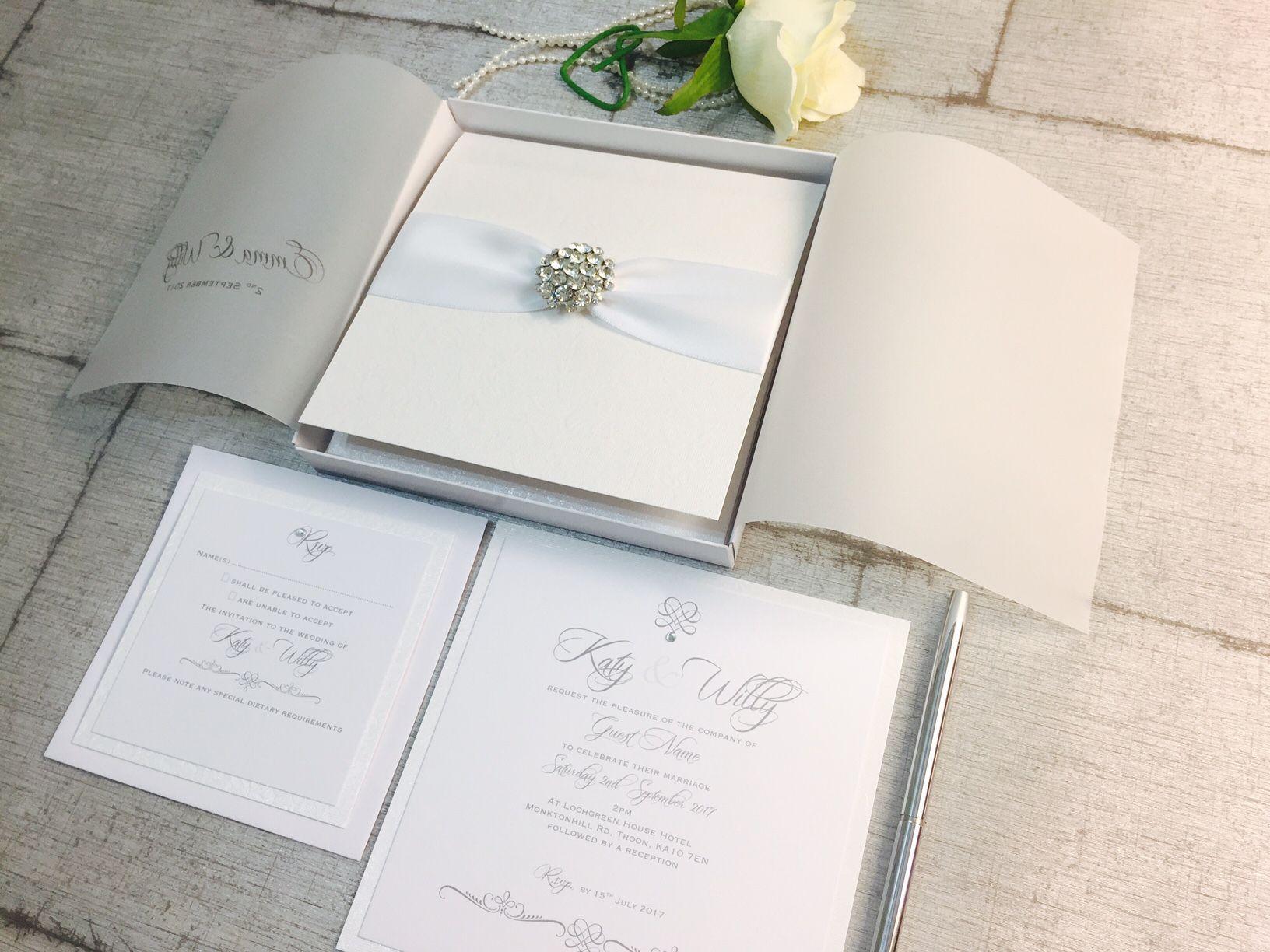 Boxed crystal wedding invitations | wedding invitations | Pinterest ...