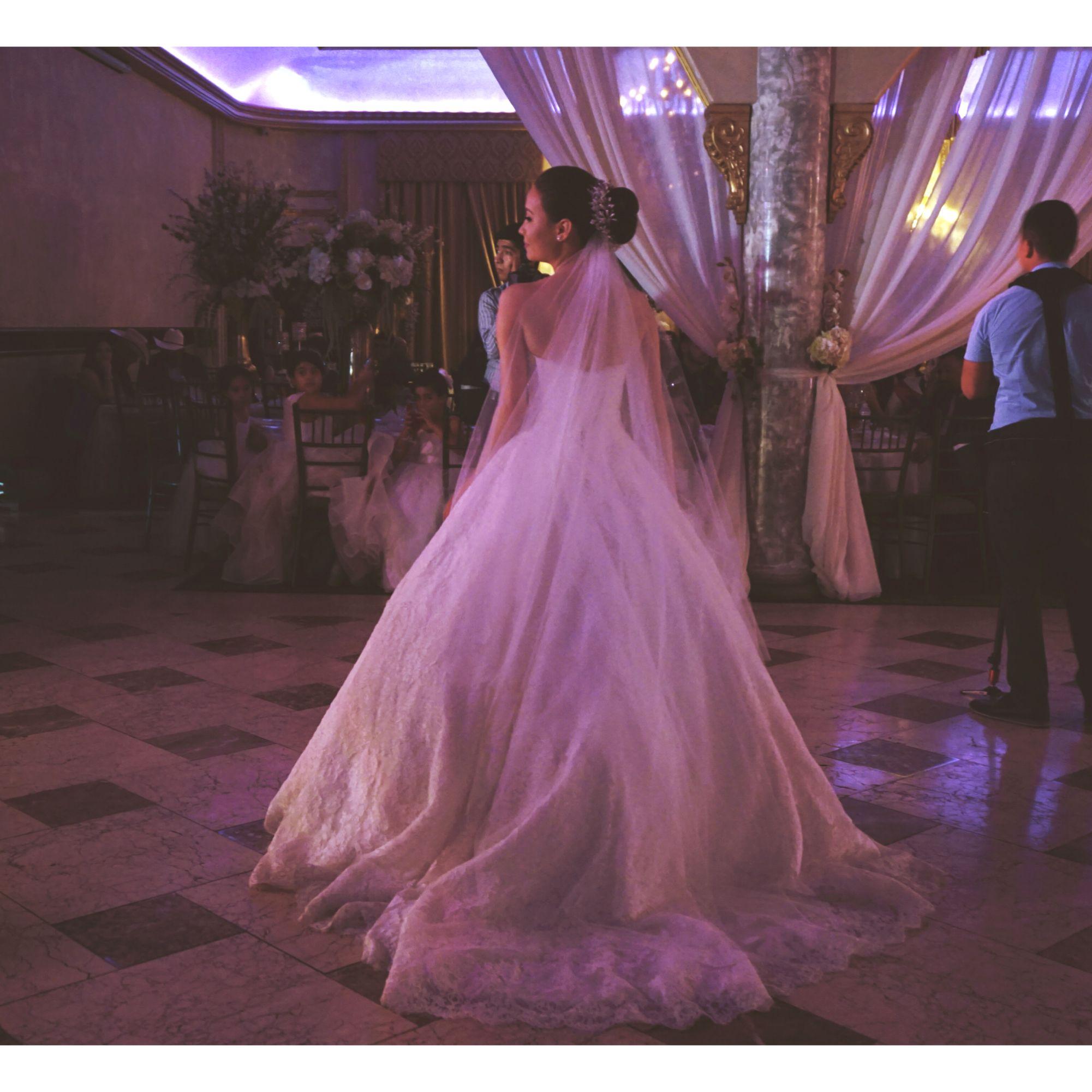 Wedding dress. Beautiful. Bridal look. Wedding up do. Bride headpiece.