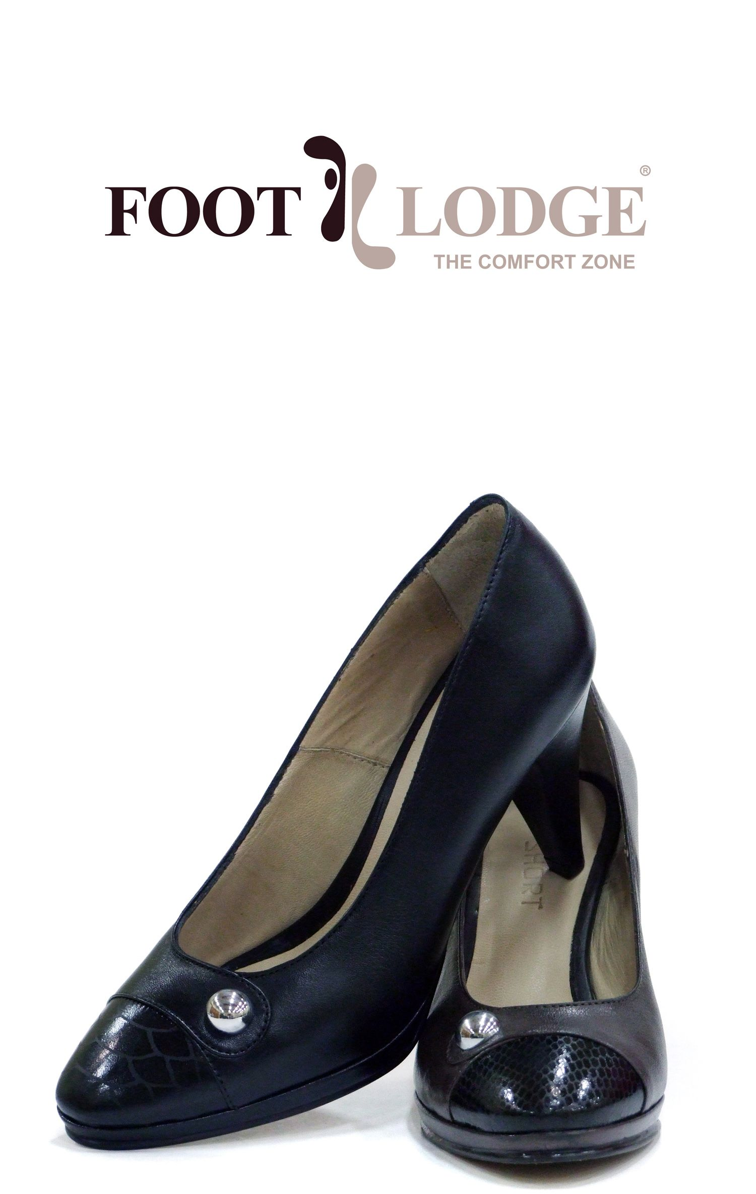 Foot Lodge Leather Heeled Shoes with strass for Women. Code: 12-31