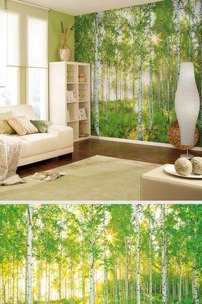 Hol Dir Den Wald Ins Wohnzimmer Mit Dieser Coolen Fototapete! Gibtu0027s Bei  HORNBACH.