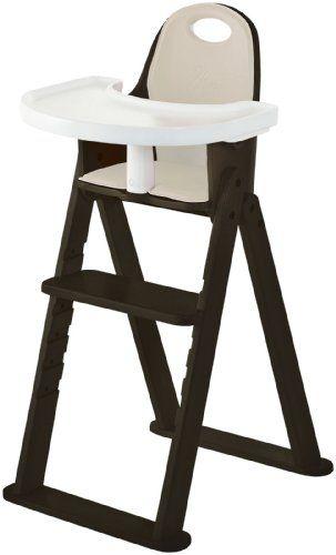 Svan Baby To Booster Bentwood High Chair Espresso Almond Cushion