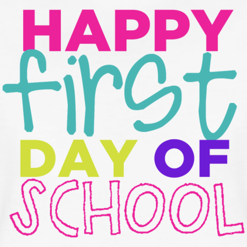 Happy First Day of School Women's Premium TShirt (With