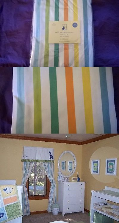 Nursery D Cor 66697 New Pottery Barn Kids Payton Stripe Panel 96 L Blackout Lining