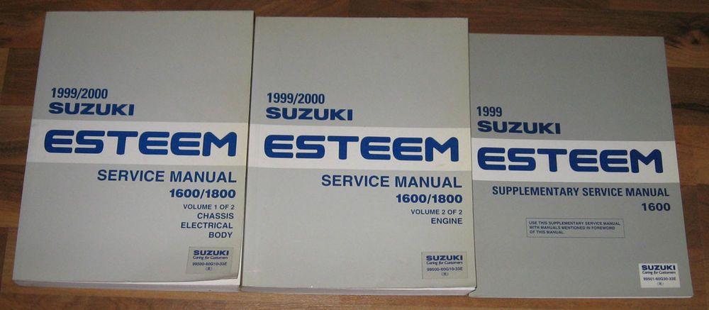 1999 2000 Suzuki Esteem 1600 1800 Shop Service Manual Set 3 1 2 Supplement Parts And Accessories Manual Truck Parts