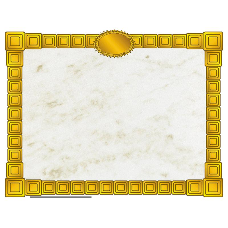 Gold block certificate border Certificate and Products