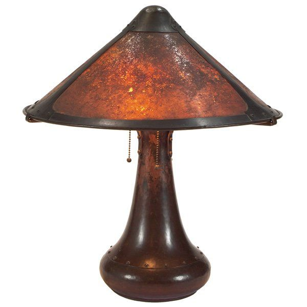 Dirk van erp table lamp hammered copper on hammered copper vans dirk van erp 1860 1933 table lamp with shade hammered copper and mica paneled shade 22 x 18 12 mozeypictures Image collections