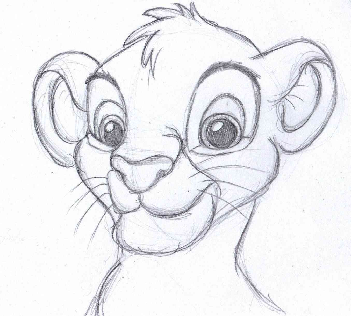 Pencil drawing images cartoons simple pencil drawings cartoon the lion king one of my favorite