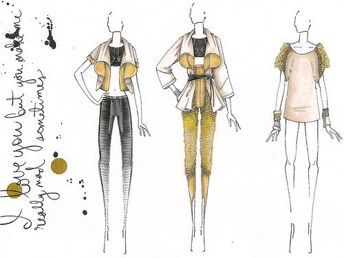 Fashion Sketchbook Illustrations - fashion design sketches; developing a collection; fashion drawings