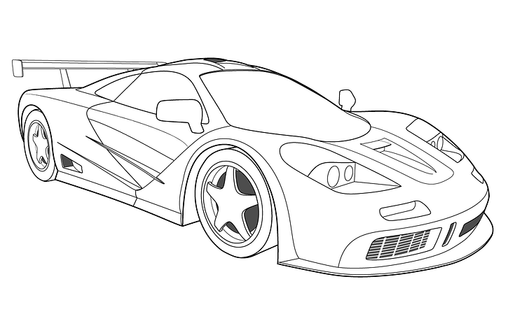 Car Coloring Pages For Kids Kids Learning Activity In 2020 Sports Coloring Pages Cars Coloring Pages Race Car Coloring Pages