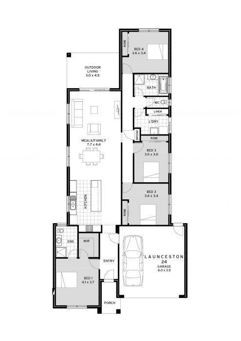 Cavalier Homes Launceston 4 Bedroom House Plans Bedroom House Plans House Plans