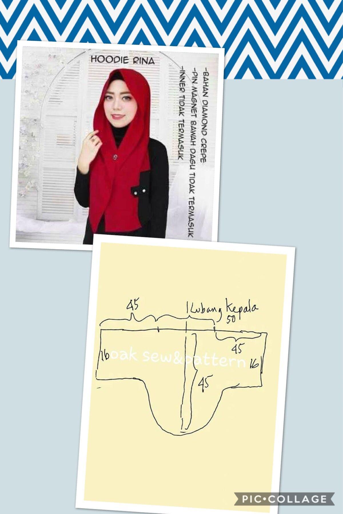 Jilbab  Pola jahitan, Gaya hijab, Kursus hijab