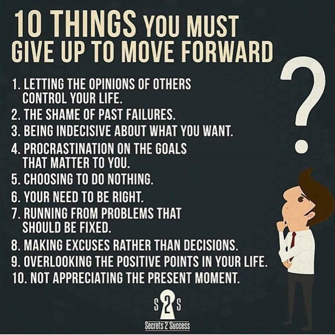 Quotes About Appreciating Life 10 Things You Must Give Up To Move Forward  Life Hacks