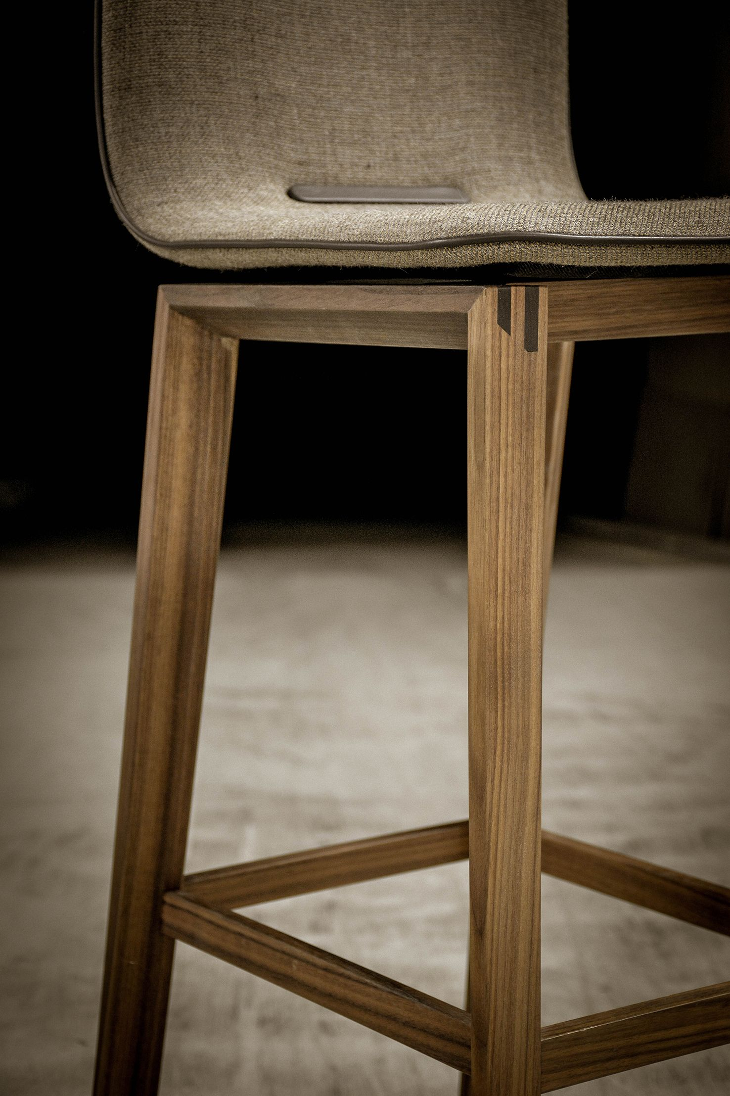 Our Recipe For A Successful Barstool Take Luxurious Leather High Quality Fabrics And Pure Solid Wood Then Craft Eve Bar Stools Wood Furniture Fine Furniture