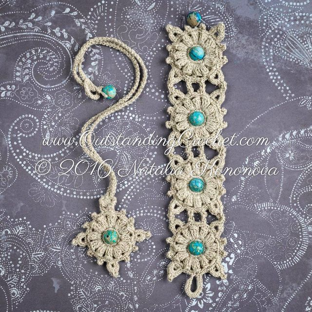 Wind-rose Crochet Bracelet and Necklace Set Update. (Outstanding ...