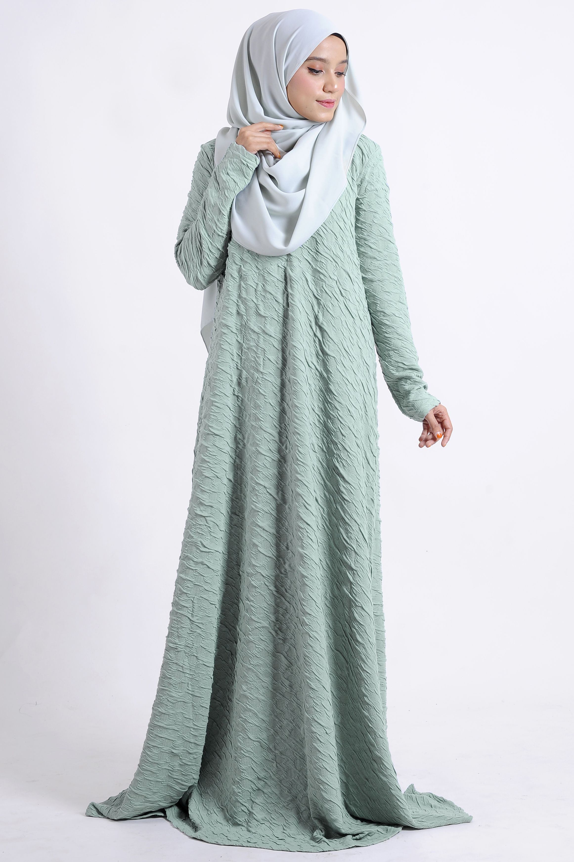 Abaya Nursing friendly Wudhu friendly Material : Knitted Cotton ...