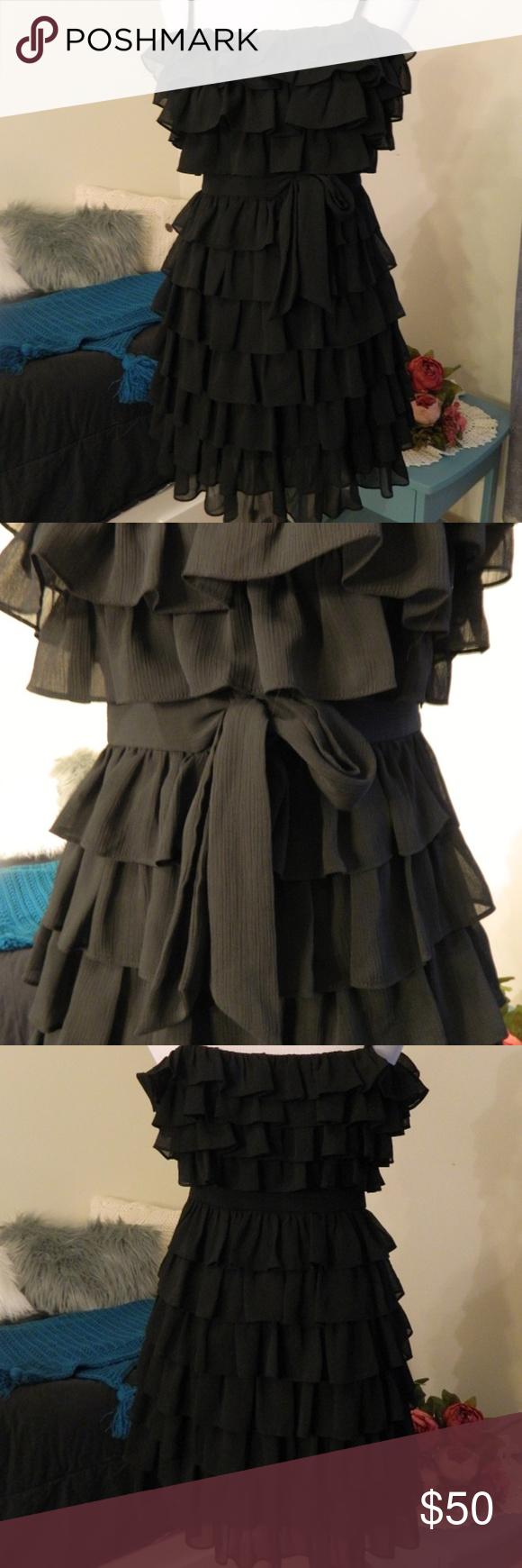 Nwot juicy couture black ruffle dress in my posh picks