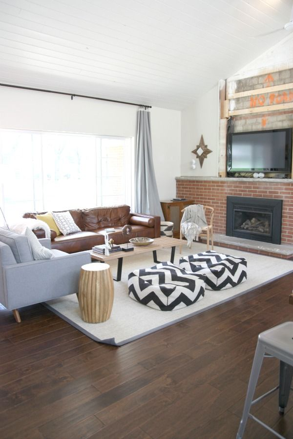 Black Gas Fireplace Insert And A Mantel Will Make The Brick Fireplace  Awesome · House Tweaking1940s ...