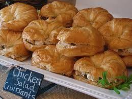 Mini Chicken Salad Croissant Sandwiches Teacher End Of Year Lunch