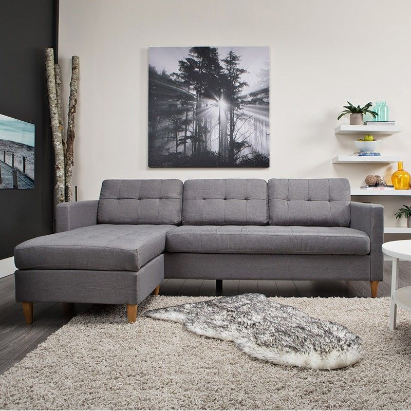 Falslev Sectional Sofa With Chaise Grey Sofas Jysk Canada Sectional Sofa Grey Sofa Design Sectional Sofa With Chaise