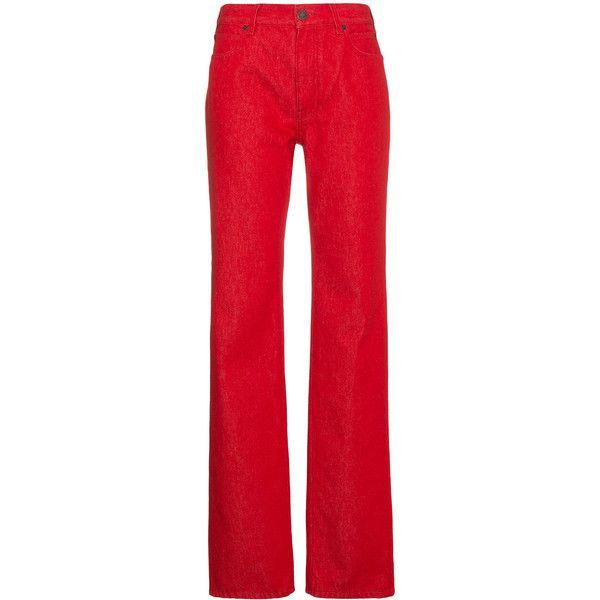 Medium Rise Straight Leg Jeans - Red CALVIN KLEIN 205W39NYC n7CySJW