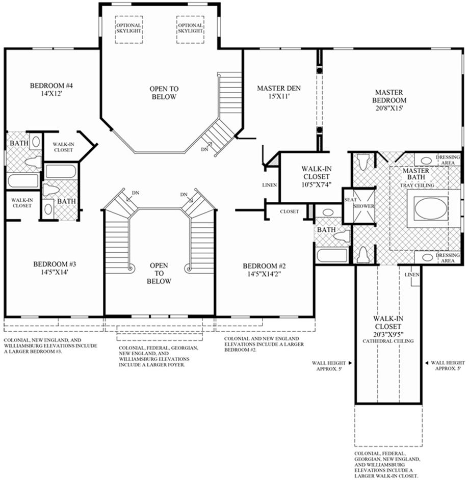 Design Your Own Home Toll Brothers: 2nd Floor Of Your Own Hampton