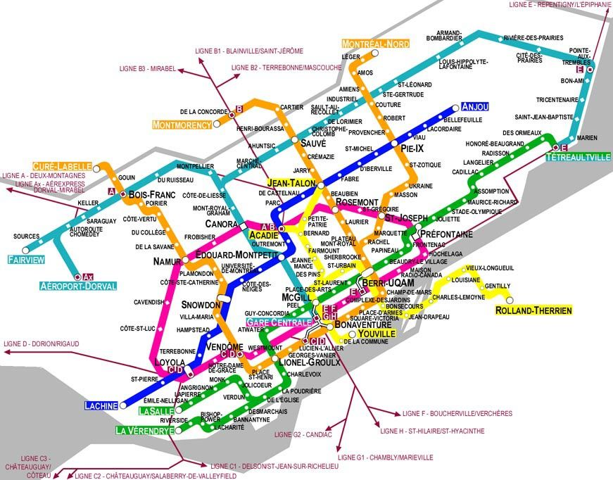 Montrela Subway Map.Carte Metro Montreal Map It The Beauty Of Direction In 2019 Map