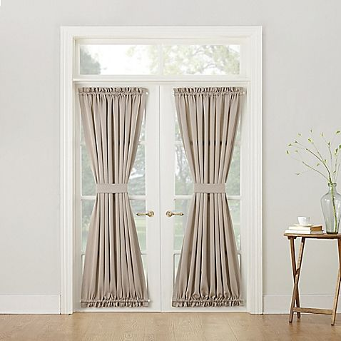 Sun Zero Bella 72 Inch Room Darkening Rod Pocket Door Panel Bed Bath Beyond Door Panel Curtains French Doors Patio French Doors With Screens